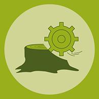 stump removal icon
