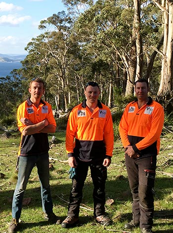 Rob, Troy and Russell on Bruny Island saving the Swift Parrot